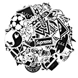 Sticker Pack [100-Pcs] Neuleben Graffiti Black White Sticker Decals Vinyls for Laptop,Kids,Cars,Motorcycle,Bicycle,Skateboard Luggage,Bumper Stickers Hippie Decals bomb Waterproof (Black and white)