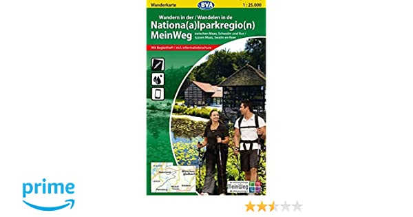 Wanderkarte bva wandern in der nationalparkregion meinweg 1:25.000