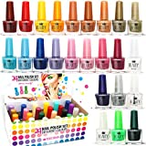 Set di 24 Smalti Per Unghie 24 Diversi Colori Brillanti Pacco Regalo 5 ml (Set A)