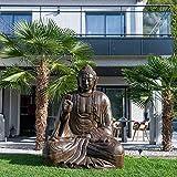 wanda collection Estatua Grande 2 m Buda Sentado de Fibra de Vidrio posición ofrenda
