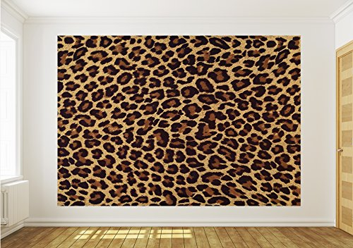 Papel Mural cadorabo Tela de leopardo, XXL - 312cm x 219cm (WxH)