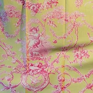 Ludivine Tissu Ameublement Toile De Jouy Coton Fond Lin