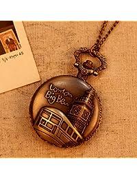 78cm Chain 4.63cm Diameter London Big Ben Fashion Vintage Antique Analog Quartz Pocket Watches Clock Women Men...