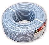 Bradas TH08*2 Industrie PVC- technischer Schlauch mit Gewebeeinlage, 50 m lang, Innendurchmesser 8 mm, Wandstärke 2 mm, transparent, 30 x 30 x 20 cm