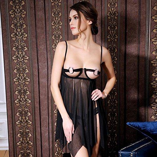Vovotrade-Tentazione-femminile-del-merletto-trasparente-abito-camicia-da-notte-Biancheria-intima