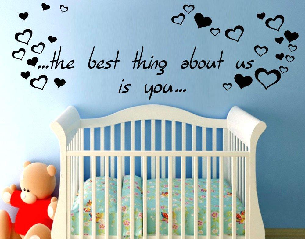 Adesivo murale wall stickers frase citazione dedica figli amore la ...