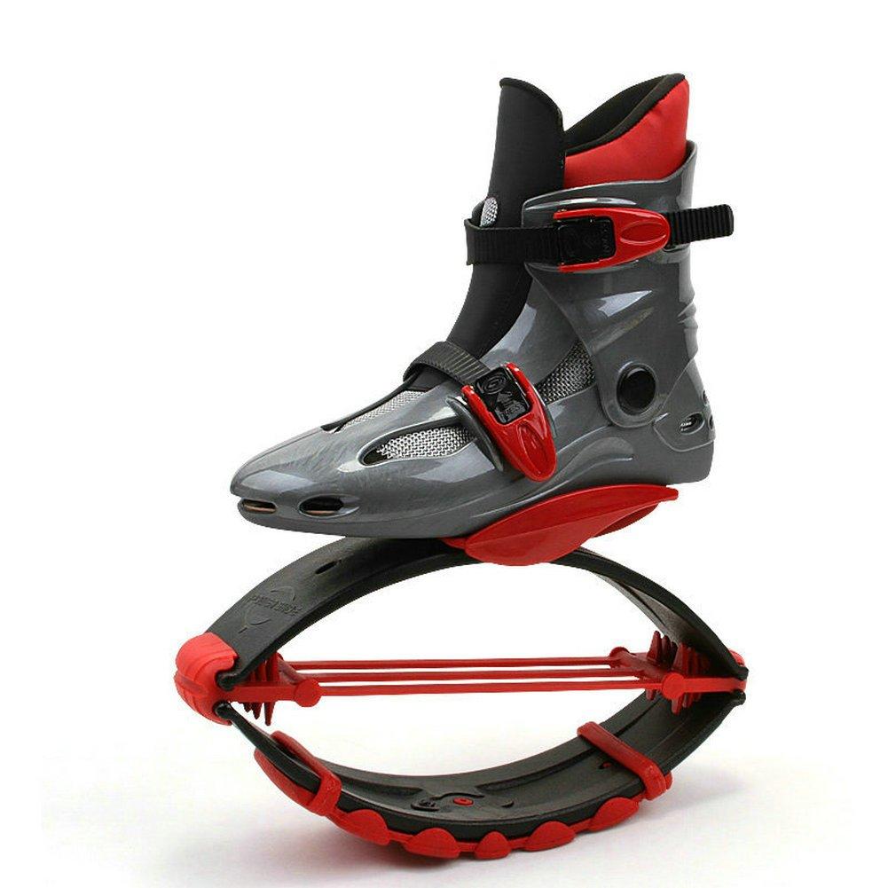 Adulti scarpe stivaletti anti-gravity running saltare shoe (50–95kg), Red, L (EU 36-38?50-70KG?)