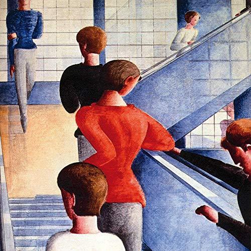 1art1 117070 Oskar Schlemmer - Bauhaustreppe, 1932 Poster Kunstdruck 40 x 40 cm