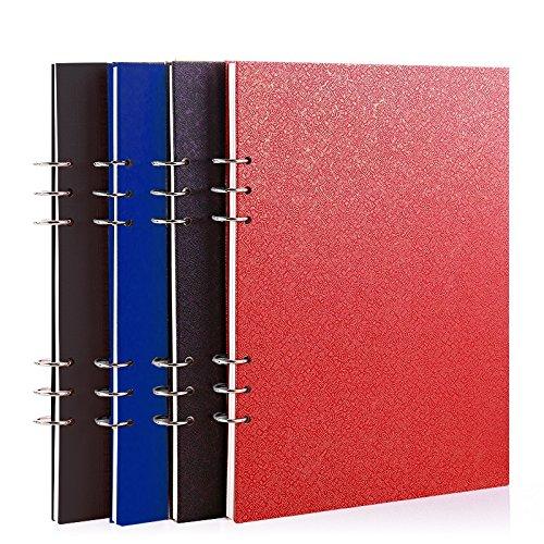 Skizzenbuch mit Spiralbindung Zeichenpapier Skizzenblock 50 Seiten(12 farbigen stiften als geschenk)