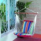 #9: Oak N Oak Comfortable & Relaxing Indoor & Outdoor Hanging Chair Furniture - Tropical Palm Stripe