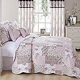 Estas colchas son un hermoso mosaico y una dulce impresión de cheques juntos. Perfecto para crear un look vintage para tu dormitorio. El Relleno 100% Algodón, agregará mayor comodidad mientras se acurruca en la cama. Esta es una opción maravi...