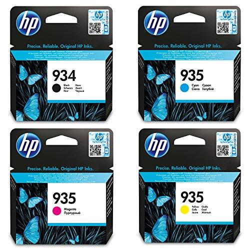 4 ORIGINALE Druckerpatronen für HP 934 black + HP 935 cyan, magenta und yellow