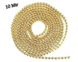 #8: hot Selling Golden Ball Chain 2 mm 10 mtr Pack for Silk Thread Jewellery Making, Silk Thread Jhumka and Bangle Making