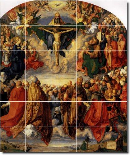 ALBRECHT DURER RELIGIOSA PARED AZULEJOS MURAL 25  40X 48CM CON (30) 8X 8AZULEJOS DE CERAMICA