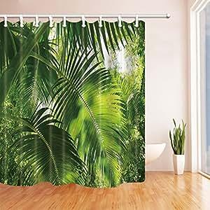 Tropical Decor Shower Curtains By KOTOM Rainforest Foliage