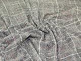 Edinburgh groß kariert Tweed Coat Gewicht Kleid Stoff, Meterware, Schwarz + Frei Minerva Crafts Craft Guide