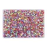 Cusfull 550 pezzi Perline per Braccialetti Bambini kit di Perlina Colorate Perle Artificiali per Giocattolo Gioielli Pietre Rotonde Accessori per l'Artigianato Mini Regalo per Ragazza Festa di Compleanno (Oceano)