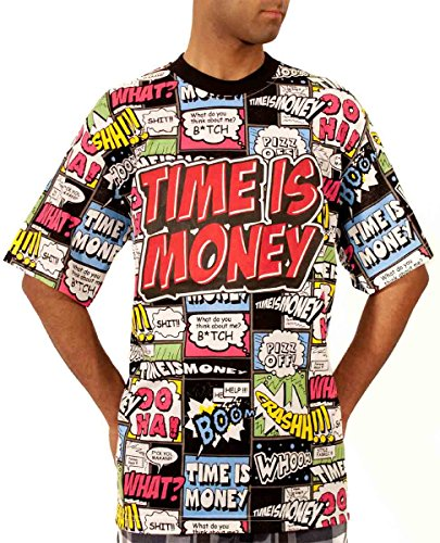 Time Is Money Mens Boys Comic Book Hip Hop Inspired Star Tee Shirts G Wear