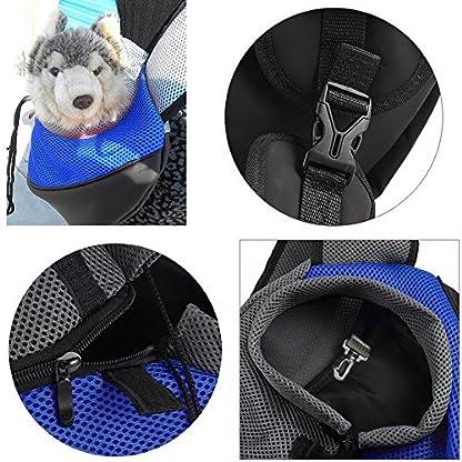 ASOCEA Portable Pet Dog Cat Puppy Carrier Outdoor Sling Carrier Bag Single Shoulder Bag for Small Dog 3
