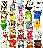 JOYIN 24pcs Mini Juguetes Granel Mini Peluches Colgantes Regalo para Infantiles Fiesta de Cumpleaños Niños Navidad favores Relleno Piñatas y Bolsas de Fiesta