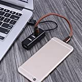 Asiproper USB 2.0 High Speed 4 Port Splitter Hub Adapter für PC Laptop Computer