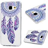 Coque Galaxy A3 2016,Samsung Galaxy A3 2016 Etui TPU,ZHXMALL Premium Flexible Souple Silicone Ultra Mince Lége Transparent Case Slim Gel Couverture Housse Protection Anti rayures AntiChoc Pare-chocs Coque pour Samsung Galaxy A3 2016 - Wind Chimes