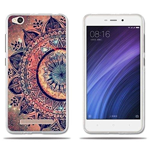 Xiaomi Redmi 4a Funda TPU de Gel de Silicona, FUBAODA ,Lujoso Dibujo de un Mandala, Carcasa Protectora de Goma de Calidad Superior para Xiaomi Redmi 4a