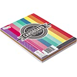 Craft Sensations Lot de 72 feuilles de papier coloré A4 - 220 g - 9 couleurs et motifs - Convient pour les loisirs, le bricol