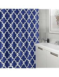 Cortina de ducha clásica con ganchos / Tela de poliéster impermeable resistente a la humedad de alta calidad para el cuarto de baño