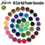 Magicdo 45 Clos Nail Art Glitter Powder,Pigment Nail Glitter Power Dust Nail Sequins, Colour-changing Mirror Chrome Powder for Children & Adult Art Projects School or Scrapbooking, Face, Nail, Eye Art