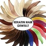 Keratin Bonding GEWELLT Hair Extensions (#8 - GOLDBRAUN - 50 cm - 100 Strähnen - 1g - Gewellt) 100% Remy Hair Extentions Echthaar Haarverlängerung Micro Ring Remy Qualität, ganz leicht einzusetzen - by Haar-Profi