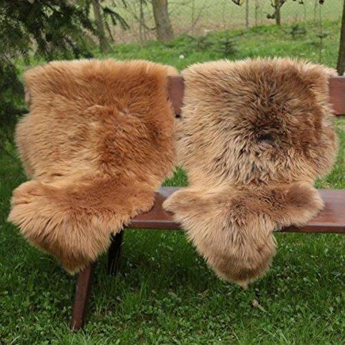 Pelle di pecora - coburger scialle di volpe pelliccia di pecora runner decorazione - marrone scuro, 100-110