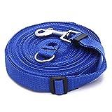 FACILLA®Arnes / Correa Cierre en Acero inoxidable para Perro 50ft/15m azul