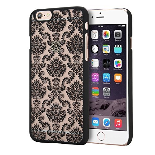 """Coque iPhone 6 / 6s (4.7""""), EnGive Housse étui de protection en silicone Couleur électrolytique pour iPhone 6 / 6s (4.7"""")(Doré) Hart Case_Schwarz"""