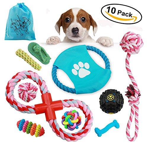 10er Packung-Set qualitative sichere Kauspielzeuge mit dem geflochten Seil, sind geeignet f¨¹r kleine mittelgro?e Hunde