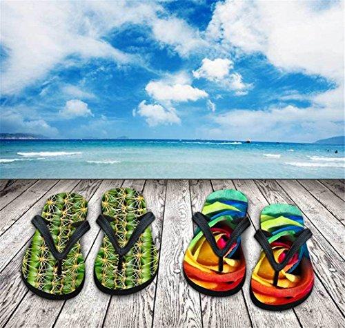 Für U Designs Fashion Unisex Sommer Strand V Flip Flops Bequeme Hausschuhe Schuhe Sandalen rot - Emoji Red