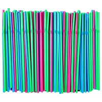 SODA Drinking straw,Disposable flexible straws, Assorted Colors , Pack of 200 Pieces (1)