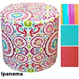 PUFF TABURETE LONETA, Estampado IPANEMA, Medida Ø37x34cm (Disponible en otros estampados/colores)