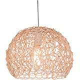 OSALADI 1Pc Pendant Lamp Ceiling Lamp Hanging Lamp Simple Rattan Light (Without light)