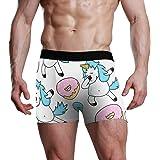 XiangHeFu Slip da Uomo Boxer Divertenti Unicorn Sweet Donut Stretch Traspiranti Mutande