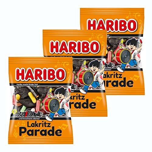 Haribo Lakritz-Parade, Fruchtgummi, 3er Pack, Lakritz, Lakritzmischung, Im Beutel, 200 g