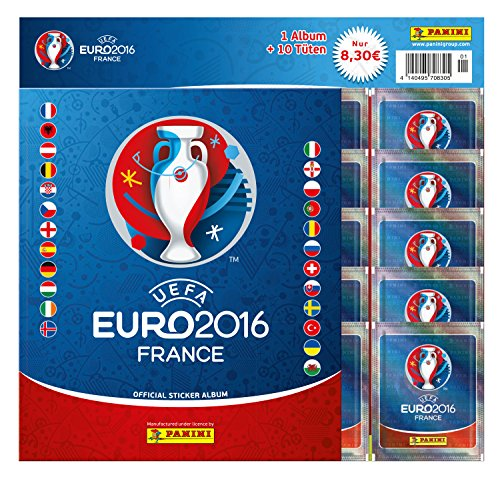 Euro 2016 France Sticker Starter-Set: Starter-Set mit Album und 10 Tüten