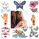 Set Tatuaggii con Brillantini per Ragazze con 50 Tatuaggi Temporanei per Bambine