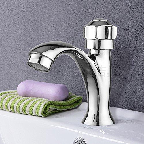 ZSQ rubinetto in lega di zinco addensato Desktop singolo rubinetto fredda Lavandino a vite tocca , Desktop singolo bacino freddo tocca #2031