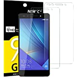 NEW'C Verre Trempé pour Huawei Honor 7,[Pack de 2] Film Protection écran - Anti Rayures - sans Bulles d'air -Ultra Résistant (0,33mm HD Ultra Transparent) Dureté 9H Glass