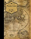 World Map Vintage Composition Noteboo...
