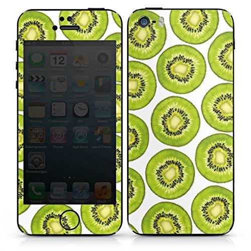 Apple iPhone SE Case Skin Sticker aus Vinyl-Folie Aufkleber Kiwi Muster Sommer DesignSkins® glänzend