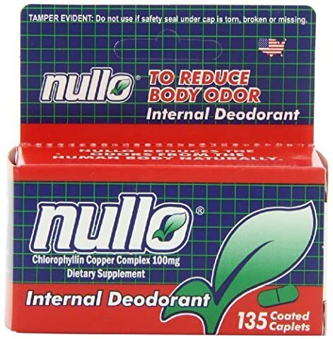 Nullo Internal Deodorant, Coated Caplets, 135 Caplets by Monticello