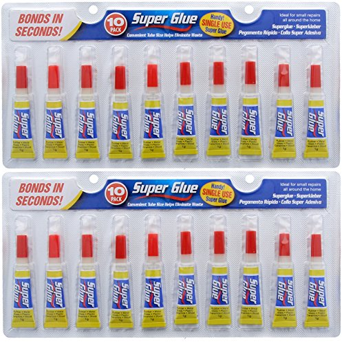 20x Instant Bond Super Glue 1g Strong Liquid Cyanoacrylate Single Use Small  Tube