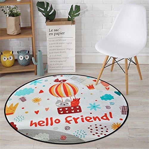 XIN SHOP- Nachtteppich Computer stuhlmatten Cartoon muster kinder teppich Schlafzimmer Wohnzimmer Tee Tisch Sofa Runde teppich Runde Matten ( größe : Diameter 180cm )